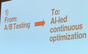 From A/B testing to AI-led continuous optimization